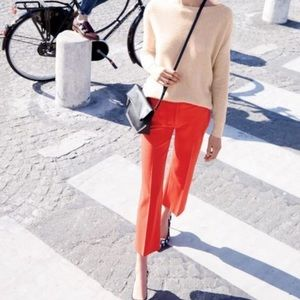Wool Blend J. Crew Red Tailored Pants